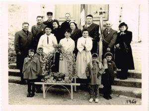 la commission d'Upie en 1960  coll. Comité des bouviers d'Upie